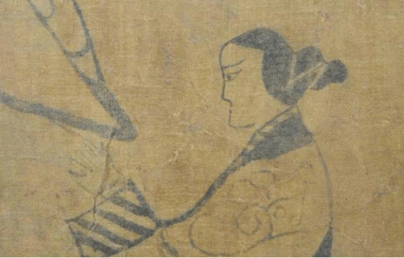 Part of a painting about 200 years before Wang Zhaojun's story