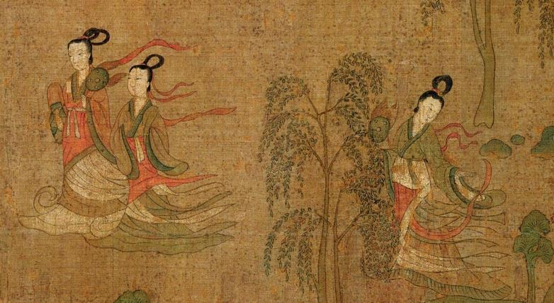 Part of the painting by Gu Kaizhi 洛神赋图 顾恺之