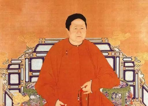 Portrait of Empress Dowager Xiao Zhuang, the consort of the second Manchurian emperor of Qing dynasty China in the early 17th century.